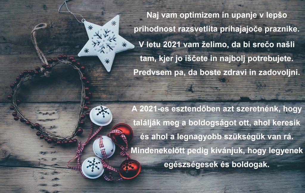 Božično voščilo – Karácsonyi üdvözlet